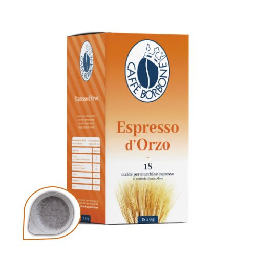 Caffè Borbone - 18 Kapseln Gerstenkaffee - Kompatibel mit ESE Papier Pads 44 mm