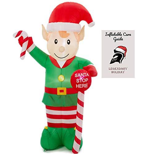 Weihnachts-Elfe mit aufblasbarer Pflegeanleitung ()