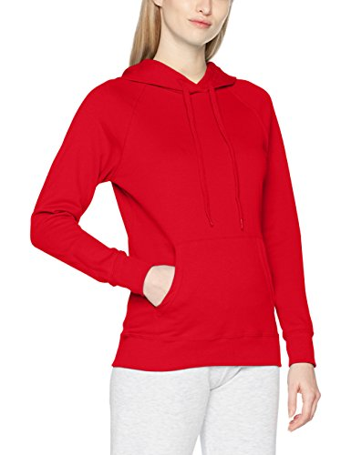 Fruit of the Loom Damen Kapuzenpullover Lightweight Hooded Sweat Lady-Fit, Rot (Red 400), Medium