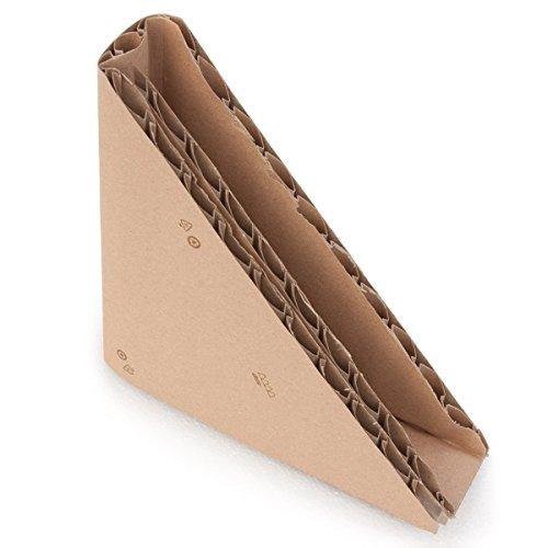 cArtù Dreieckige Eckenschützer: hoch schützender und 100 % ökologischer Kantenschutz für das Verpacken und den Versand von flachen Gegenständen, wie Bilderrahmen, Spiegel und Monitore. Jede Packung enthält 12 Eckenschützer: 195 x 195 x 2.5cm (Öffnung).