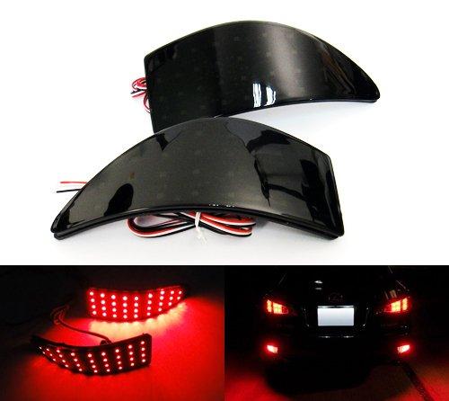 Preisvergleich Produktbild 2x Schwarz Rauchglas Heckstoßstange Reflektor LED Endstück Bremslicht 2005-13 IST MK II 250 220d