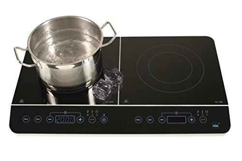 Double plaque de cuisson à induction de cuisson Plaque de cuisson double plaque de cuisson à induction 2 boutons cuisson avec capteur pour économe en énergie avec induction
