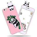 Custodia per iphone 6/6s, Custodia iphone 6/6s Cover SpiritSun Antiurto e Antigraffio Morbido TPU Case Carino Modello Protettiva e Leggera Cover iphone 6/6s -Panda rosa