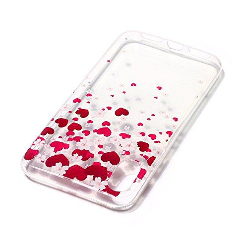 Custodia iPhone 8 Case Kcdream Fashion Moda Ultraslim TPU Transparent Caso Elegante Carina Souple Flessibile Morbido Silicone Copertura Perfetta Protezione Shell Paraurti Custodia Per iPhone 8 (5.8 Po Amore