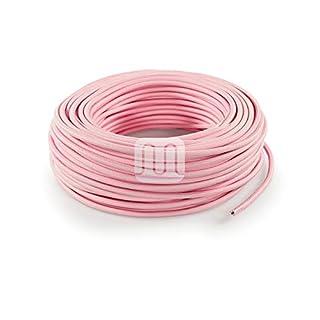 Textilkabel für Lampe 3 Meter 2 Adrig rosa (2x0,75mm2) SuperFlex | Textilummanteltes Stoffkabel zum bau dekorativer Textilkabellampen | Zuleitung für Lampe | Pendelleuchten | Hängelampen