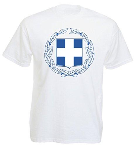 Griechenland - T-Shirt Herren Aufdruck Wappen (L)