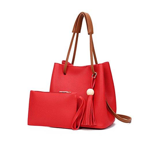 Mefly Neue Fashion Style Quaste Single Schultertasche Xiekua Paket Tasche gules