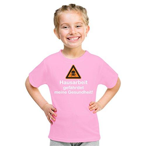 Kinder T-Shirt Hausarbeit gefährdet meine Gesundheit Rosa