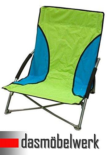 Design Luftsessel Camping Sessel Garten Tragkraft 150KG grün keine Luftpumpe