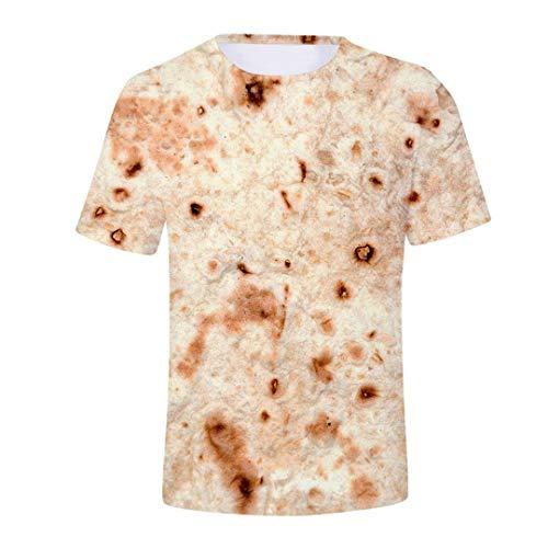 Sommer Herren 3D Mexiko Burrito Print Kurzarm T-Shirt Top Plus Size 2 L (Assassin's Creed 2 Alle Kostüme)