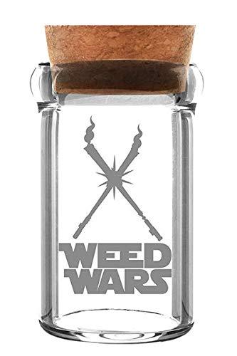Weed Star Barattoli Di Vetro weedjar Weed Wars Erbe in vetro con tappo in sughero