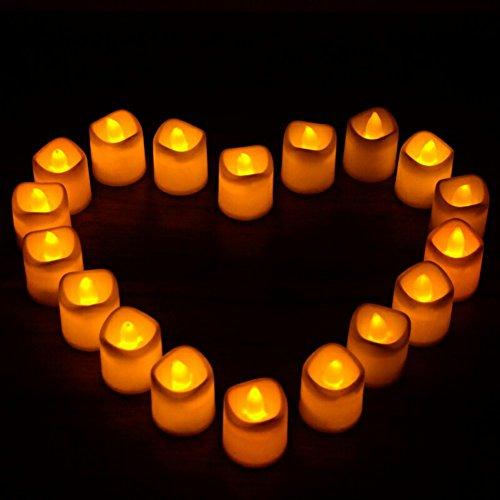 kasit Luz Ámbar 24pcs flicke Anillo Onda Puerto LED de vela Long Lasting velas Flameless té luz para Boda, Fiesta de cumpleaños