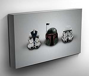Star Wars casques Panoramique Tableau sur toile 50 x 50 cm Grande toile prête à suspendre Poster Tableau Motif n ° 8