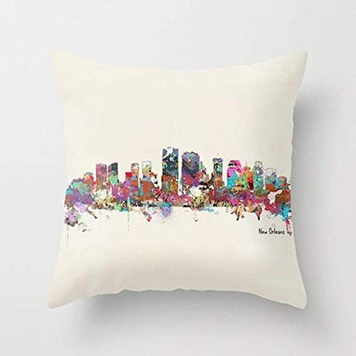New New Orleans Louisiana Skyline Home Decoration Pillowcase Covers (New Orleans Candy)