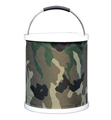 Zusammenklappbare Oxford Eimer, Wasserdicht Portable Keine Leckage Falten Aufbewahrungsbeutel, FüR Auto Waschen Angeln Camping Picknick , camouflage , x3 Mop Caddy