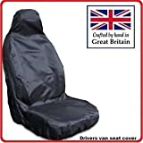 Heavy Duty Driver Seat Cover Protector - Black