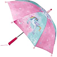Einhorn Paradies Umbrella for Children Pink Unicorn with Several Light Effects 70cm