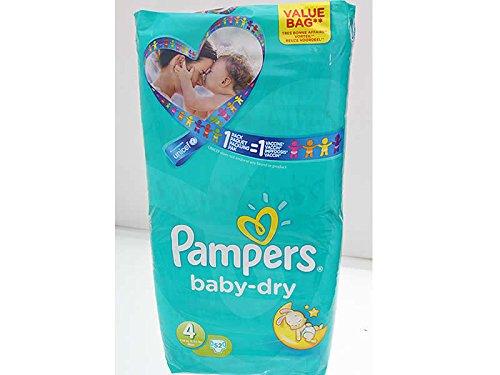Pampers Baby-Dry Windeln Größe 4 für 7-18kg 52er Packung Vorteilspackung