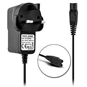 Aukru Charger Power 15V for Philips Shaver AT750, AT751, AT752, AT753, AT890, AT891, AT893, AT940. PT860,PT927,PT923,RQ1185,RQ1175, PT919, RQ1250, RQ1250,PT727,RQ1275,PT739,PT739,PT725,HS 8420,RQ1275,RQ1155,PT860S,PQ208,RQ1280,PQ205,PT920,Replacement: HQ8505, CRP136