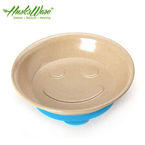 Husk's Ware Support Mikrowelle Geschirr Smiley Saugnapf Schüssel Tropfensicher Essen Schüssel Baby Mahlzeit Platte Kleinkinder Nahrungsergänzungsmittel Schüssel 1-6 Jahre alt