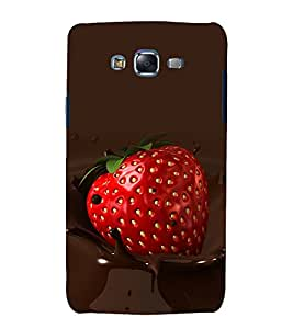 printtech Fruits Strawberry Chocolate Back Case Cover for Samsung Galaxy Core i8262 / Samsung Galaxy Core i8260