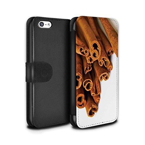 Stuff4 Coque/Etui/Housse Cuir PU Case/Cover pour Apple iPhone 5C / Pack 6pcs Design / Nourriture de Noël Collection Bâtons Cannelle