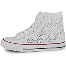 converse bianche pizzo donna