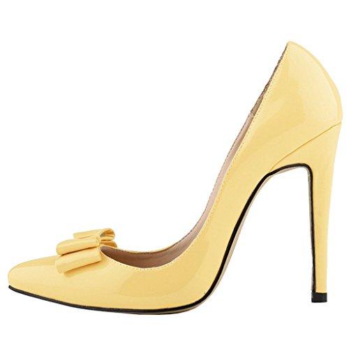 EKS , Chaussures à talons femme Gelb-Bowtie