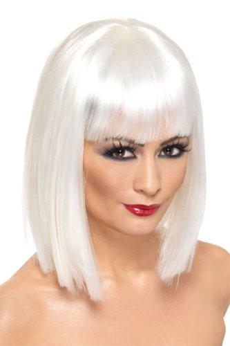 Blonde Damenperücke Perücke Damen blond Strähne Bob Glamour Go Go Tänzerin Groovy Groove (Go Kostüme Erwachsene Für Go Tänzerin)