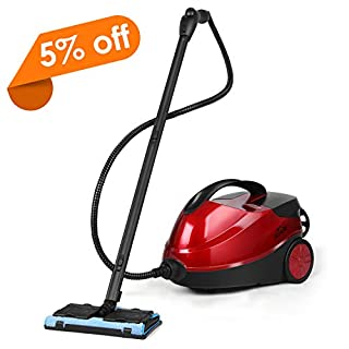 Steam Cleaner, SIMBR Steam Mop 4.5 Bar 1.5L Steamer Multifunctional with 17 Accessories for Most Floors, Windows, Carpet, Garment and More