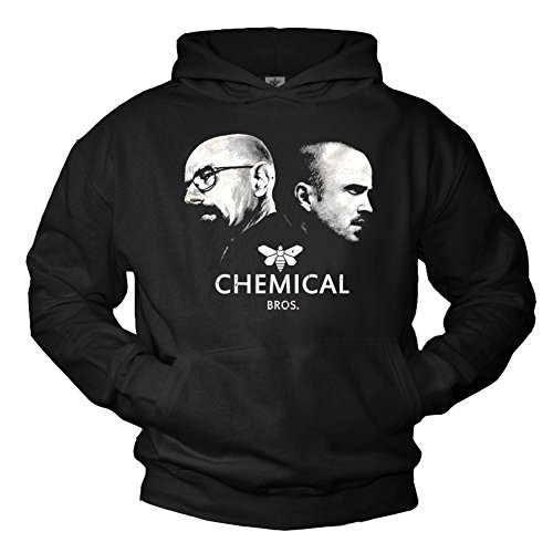 Heisenberg Pullover mit Kapuze CHEMICAL BROS Breaking Bad schwarz Größe (Heisenberg Kostüm Breaking Bad)