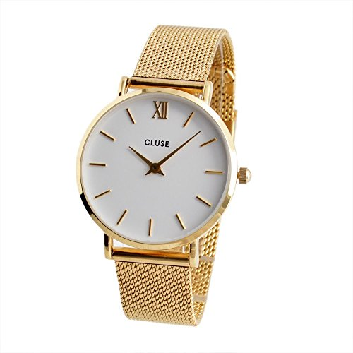 Watch Cluse Minuit Mesh Gold / White CL30010