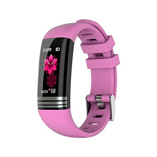 HDBB Neue Art und Weise Geschenk Fitness-Armbänder Smart-Band Cardio-Armband Armband Gesundheit Armband 5 in 1 Activity Tracker Messung von Druck und Pulse Smart Watch (Color : Pink)