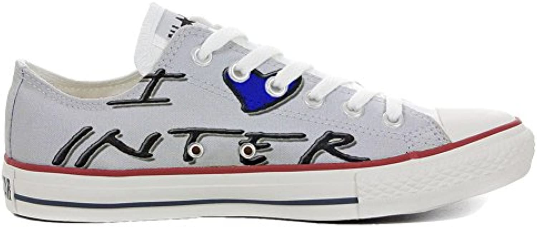 Converse All Star Low Customized personalisierte Schuhe (Handwerk Schuhe) Slim I love Inter