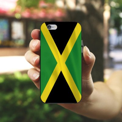 Apple iPhone X Silikon Hülle Case Schutzhülle Jamaica Jamaika Flagge Silikon Case schwarz / weiß