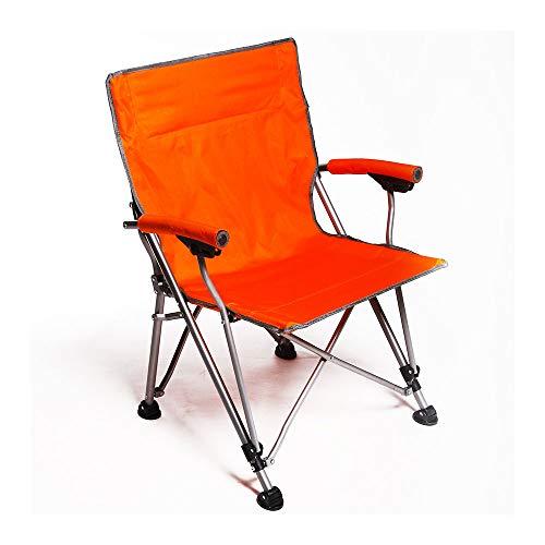 HUACANG Grande Chaise Pliante D'extérieur Pique-Nique La Pêche Voyage Et Loisirs Chaise Portable Simple avec Accoudoirs Orange Bleu Vert Foncé (Couleur : Orange)