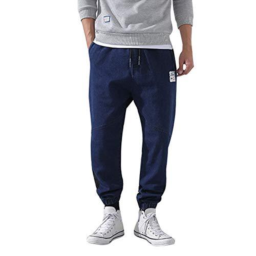 Malloom-Bekleidung Herren Turnhose Baggy Jogginghose Herren Scottish Pants Herren Wanderhose Cabrio Herren K1 Pants Trainingshose Herren Fußball Weite Hose - Cabrio Jeans