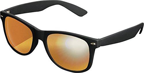 Unisex Sonnenbrille Für Damen und Herren mit verspiegelten Gläsern, black/orange (Billige Gläser)