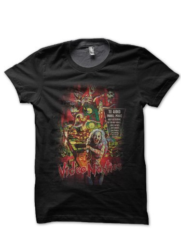 video-nasties-the-definitive-guide-mens-black-t-shirt-m
