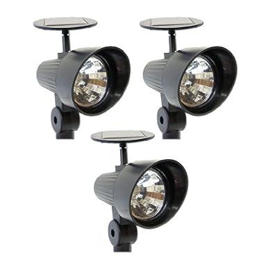 """Solar-Strahler """"Spot-light"""" Solarleuchte mit 3 LED, 3er Set von Nexos Trading - Lampenhans.de"""