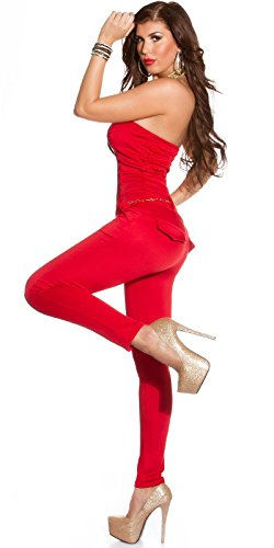In-Stylefashion - Salopette Femme Rouge