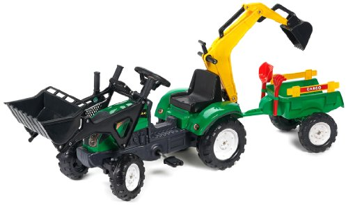 Falk - 2052 cn - giochi all'aperto - Backhoe Pelle & Trailer Ranch Trac Rateu