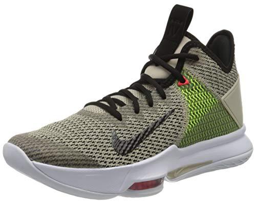Nike Herren Lebron Witness IV Basketballschuhe, Gelb (String/Black-Volt-BRT Crimson-White 200), 41 EU