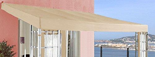 Grasekamp Ersatzdach Anbau Pergola Alu Optik 3x4m Sand
