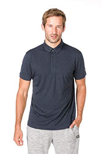 super.natural Herren Polo-Shirt, Mit Merinowolle, M ESSENTIAL POLO, Größe: M, Farbe: Dunkelblau
