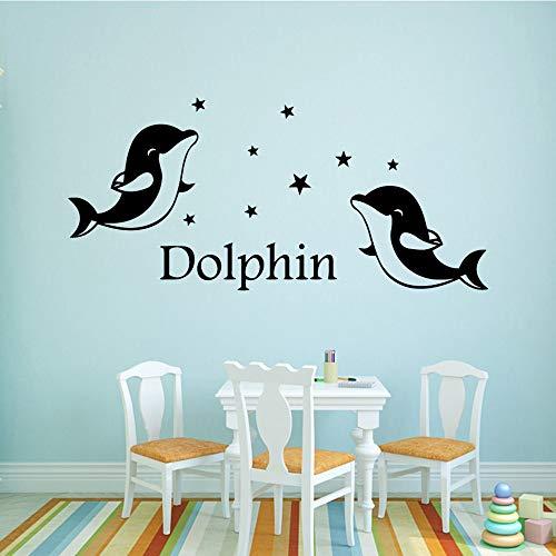 Neue delphin Familie Wandaufkleber Kunst Wohnkultur Dekorative Vinyl Wandaufkleber aufkleber Tapete-65x30 cm