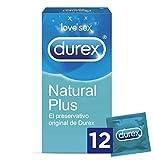Durex Preservativos Natural Plus - Total 12 Condones