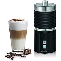 Briebe Latte - Batidora Espumador de leche eléctrico automático, 700 ml recipiente desmontable, función calentar, apagado automático, 600W, color negro