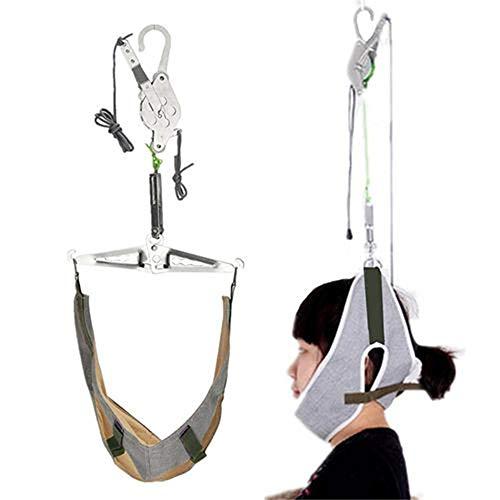 IW.HLMF Schmerzlinderung HäNgende Nackenbahre Hals Cervical Traction Stretch Gear Brace Kit (Traction Kit Cervical)