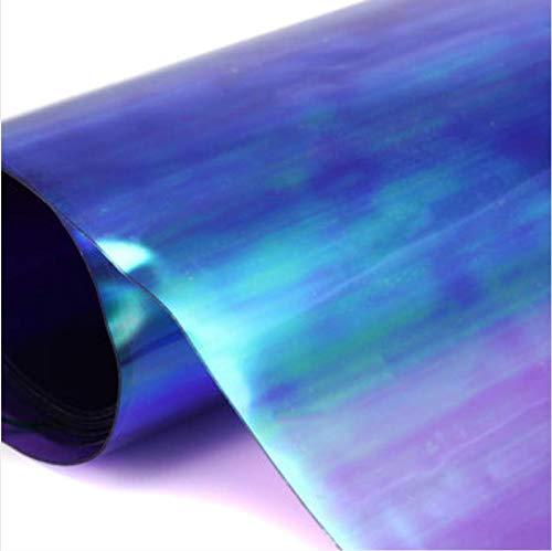 Holographische Folie Stoff, faway 2095cm PVC holografische Rolle klar Folie Verspiegelt Folie Vinyl Graphic Stoff für Leder Craft Werkzeug, violett